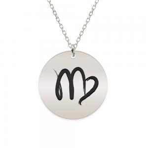 Amelie - Colier argint 925 personalizat cu semn zodiacal Fecioara
