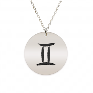 Amelie - Colier argint 925 personalizat cu semn zodiacal Gemeni