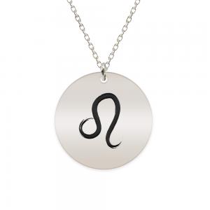 Amelie - Colier argint 925 personalizat cu semn zodiacal Leu