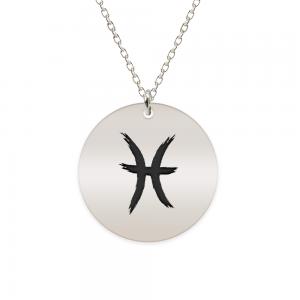 Amelie - Colier argint 925 personalizat cu semn zodiacal Pesti