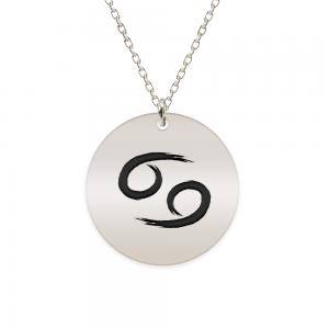 Amelie - Colier argint 925 personalizat cu semn zodiacal Rac