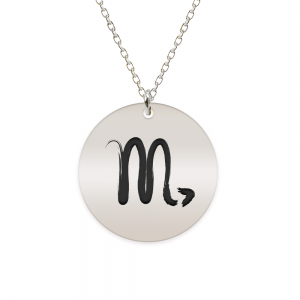 Amelie - Colier argint 925 personalizat cu semn zodiacal Scorpion