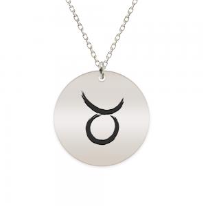 Amelie - Colier argint 925 personalizat cu semn zodiacal Taur