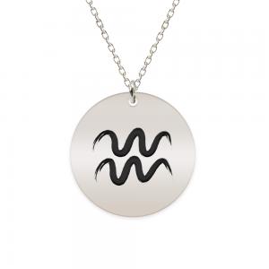 Amelie - Colier argint 925 personalizat cu semn zodiacal Varsator