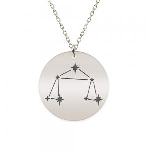 Destiny - Colier argint 925 personalizat cu constelatii - Balanta