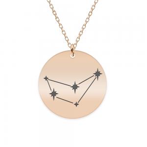 Destiny - Colier argint 925 placat cu aur Roz personalizat cu constelatii - Capricorn
