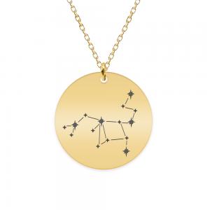 Destiny - Colier argint 925 placat cu aur galben 24K personalizat cu constelatii - Sagetator