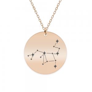 Destiny - Colier argint 925 placat cu aur Roz personalizat cu constelatii - Sagetator