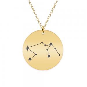 Destiny - Colier argint 925 placat cu aur galben 24K personalizat cu constelatii - Varsator