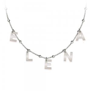Raya - Colier tip salba din argint 925 personalizat cu nume