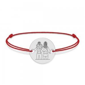 BFF - Bratara cu snur personalizata pentru cei mai buni prieteni din argint 925
