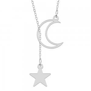 Celesta - Colier din argint personalizat - Semiluna si steluta