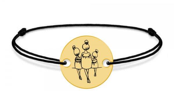 pantofi de temperament pantofi exclusivi comandă online Felicia - Bratara personalizata din argint si snur mama cu doua fetite