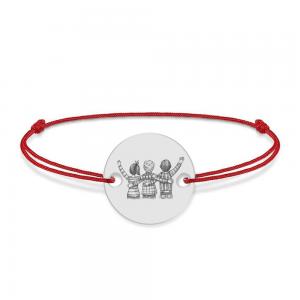 Friends - Bratara personalizata din argint 925 pentru cei mai buni prieteni