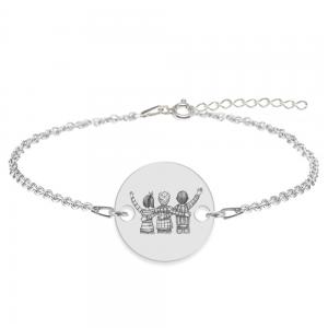 Friends - Bratara personalizata pentru cei mai bun prieteni din argint 925 - Banut