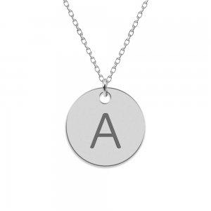 Lara- Colier din argint 925 personalizat cu initiala - banut