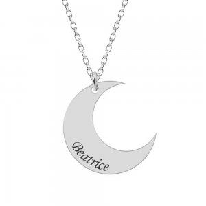 Moon - Colier din argint personalizat - Semiluna