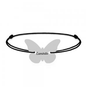 Zulema  - Bratara din snur personalizata cu fluturas si nume