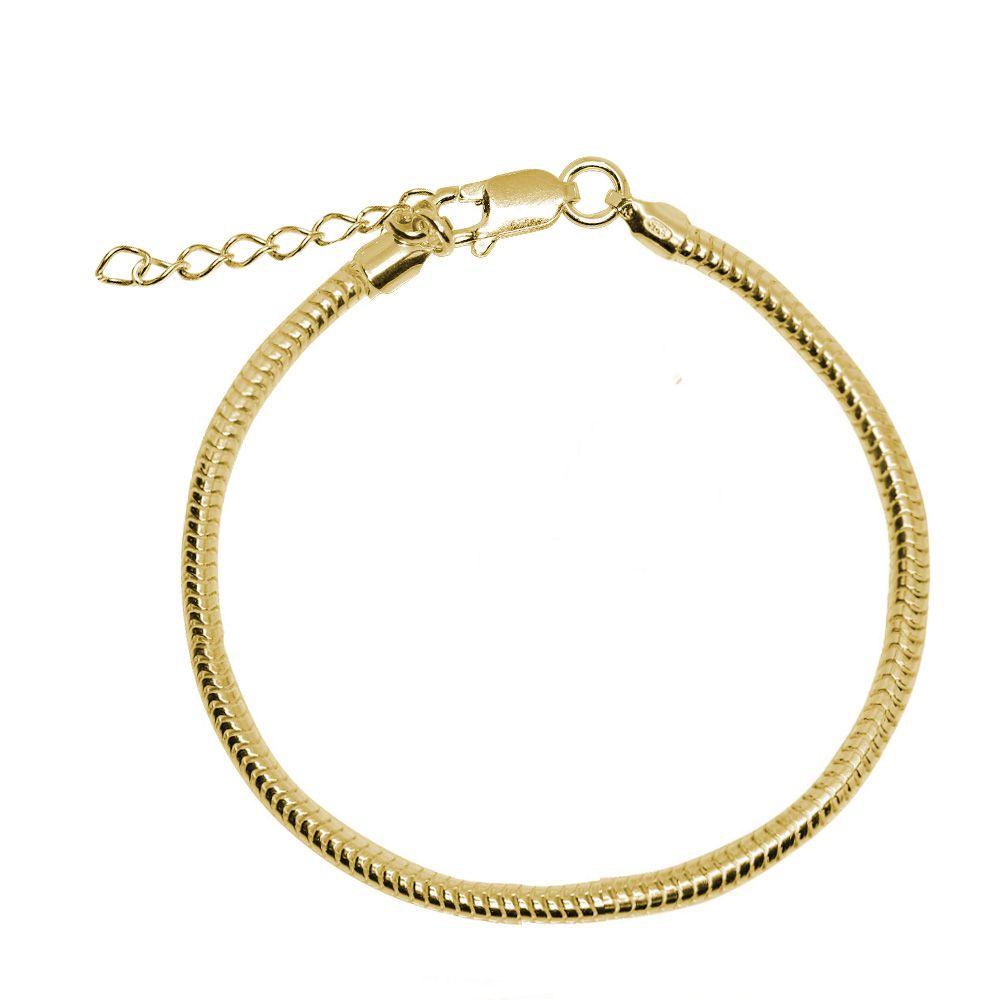 Bratara Argint Placat cu Aur Tip Pandora