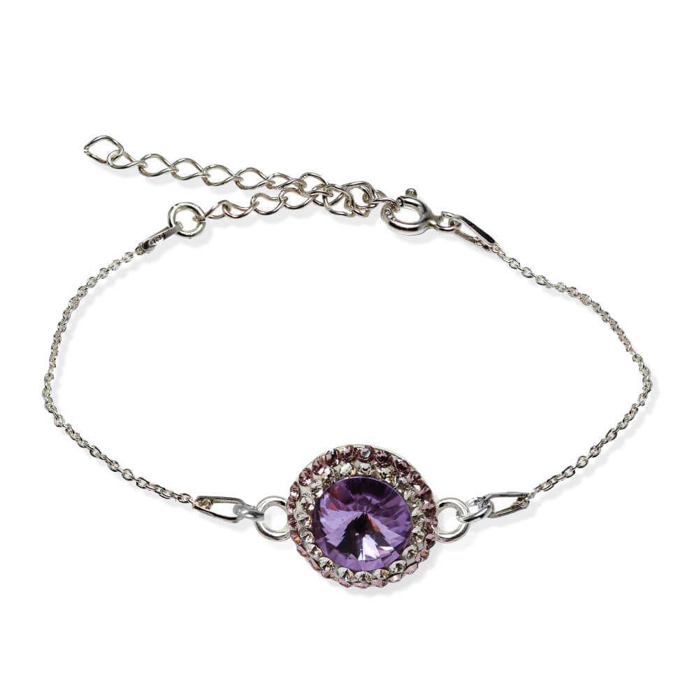 Aldora - Bratara Argint si Cristale Swarovski - Violet