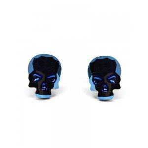 Lotus - Cercei Argint si Cristale Swarovski - Metallic Blue