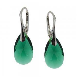 Linda - Cercei Argint si Cristale Swarovski - Emerald