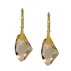 Lucy - Cercei Argint Aurit si Cristale Swarovski