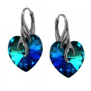 Karola - Cercei Argint si Cristale Swarovski - Bermuda Blue