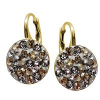 Adelaide - Cercei Argint Placat cu Aur si Cristale Swarovski