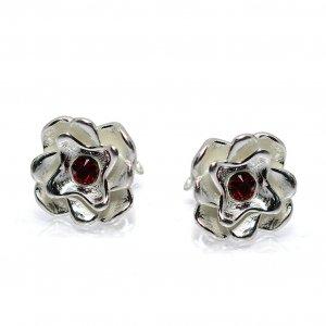 Katy - Cercei Floare Argint si Zirconiu