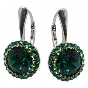 Luxe - Cercei Argint si Cristale Swarovski - Emerald