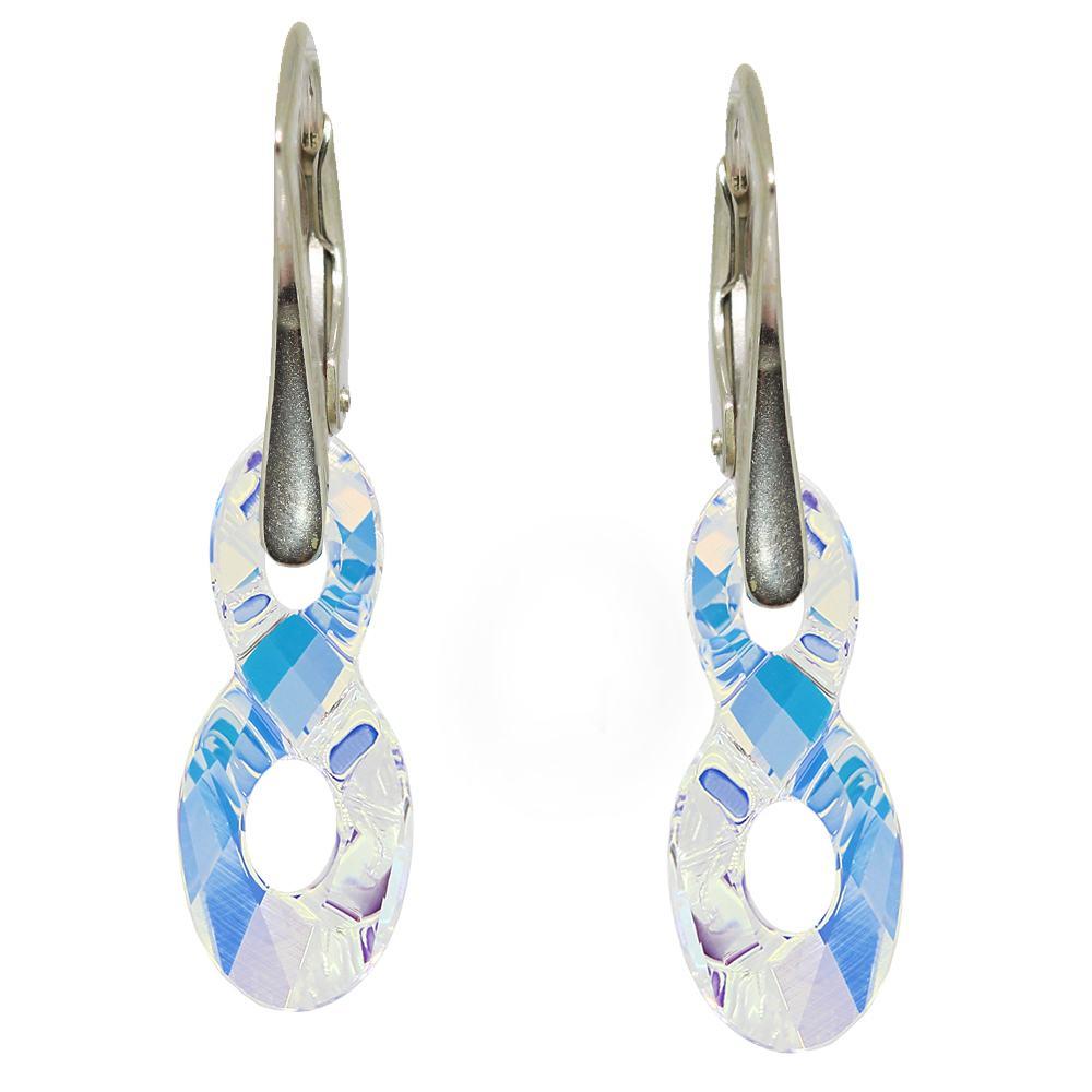 Angy - Cercei Argint si Cristale Swarovski - Aurore Boreale