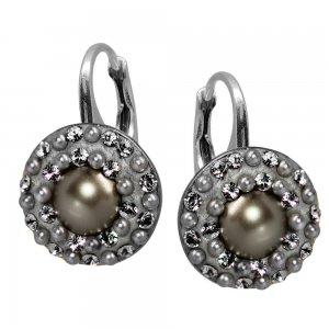 Lucrezia - Cercei Argint, Perle si Cristale Swarovski
