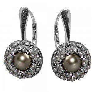 Lucrezia - Cercei Argint,Perle si Cristale Swarovski