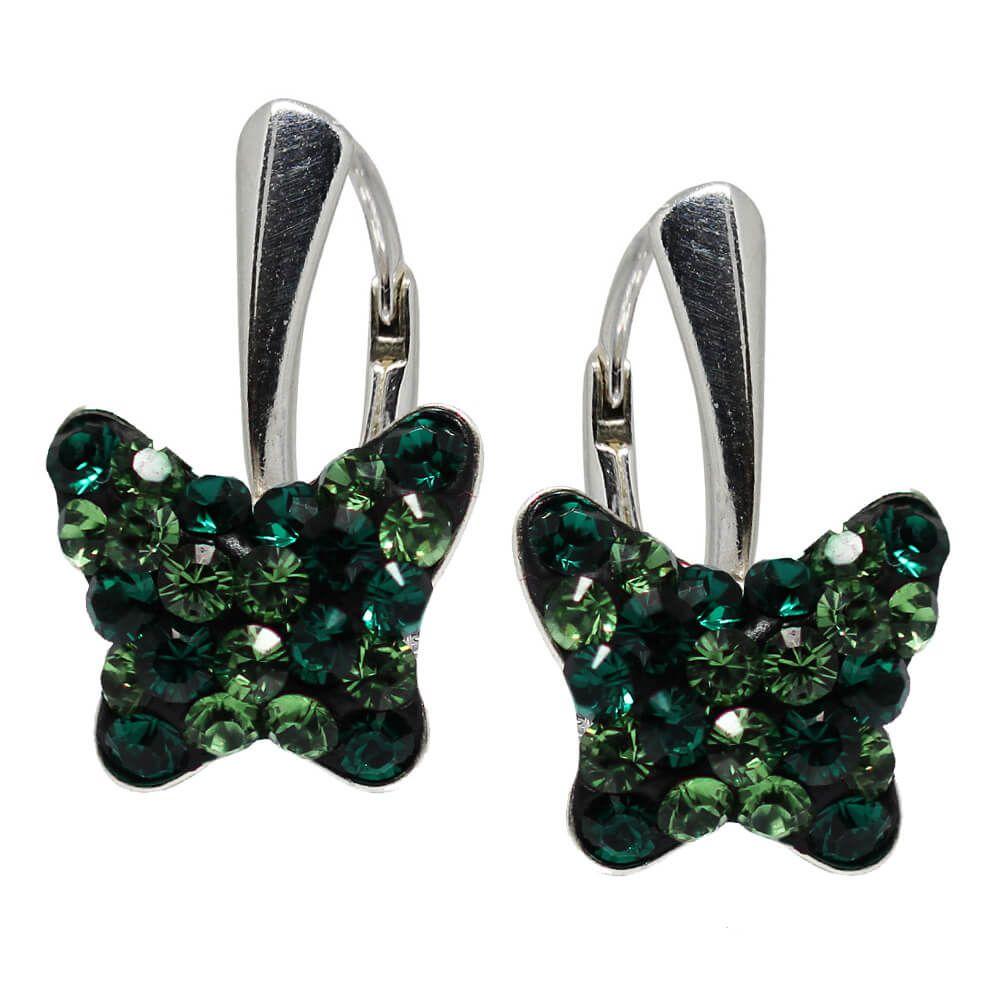 produse de calitate mai bine extrem de elegant Liv - Cercei Argint si Cristale Swarovski - Verde