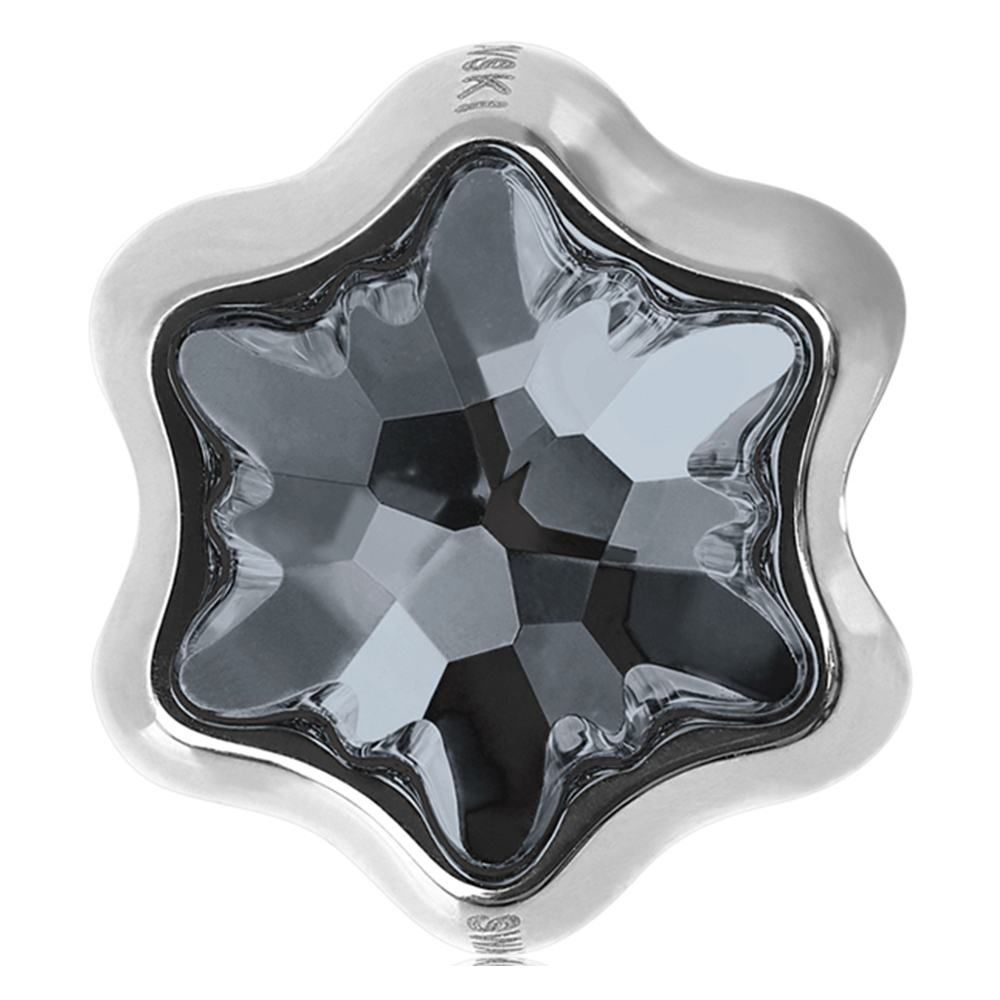 Brie -Talisman Compatibil cu Bratarile Tip Pandora din Cristale Swarovski - Silver Night