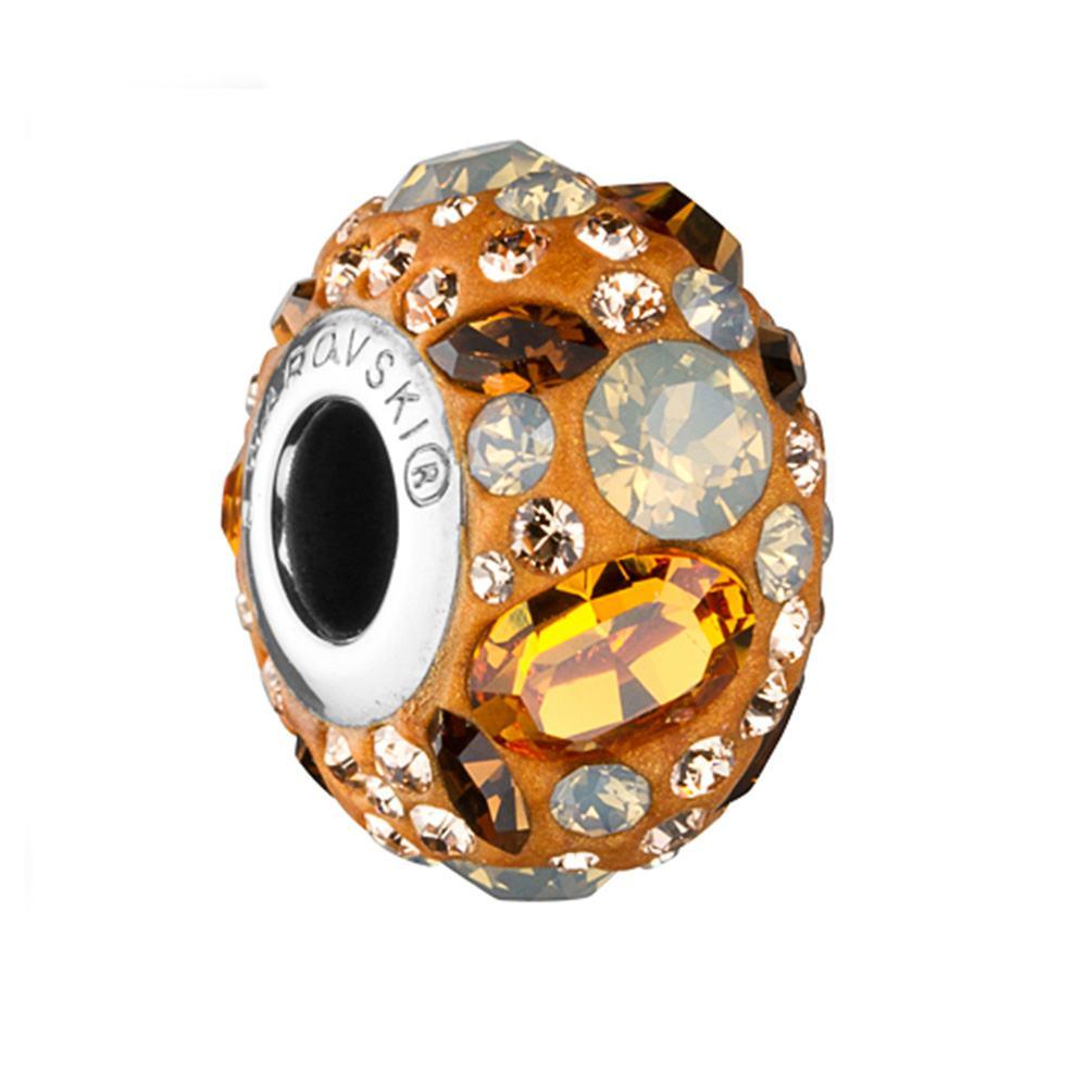 Kyte -Talisman Compatibil cu Bratarile Tip Pandora din Cristale Swarovski - Topaz