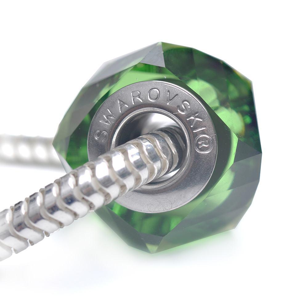 Helix  -Talisman Compatibil cu Bratarile Tip Pandora din Cristale Swarovski - Fern Green