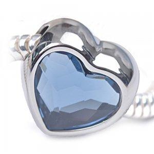 Love -Talisman pentru bratari din Cristale Swarovski - Denim