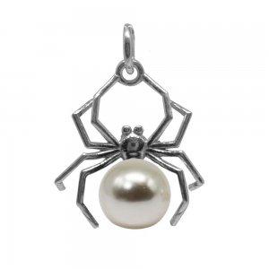 Narcis - Pandantiv Argint si Perle Swarovski - Crystal