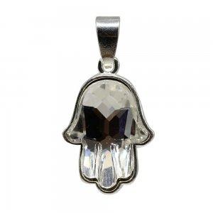 Hamsa - Pandantiv Argint si Cristale Swarovski