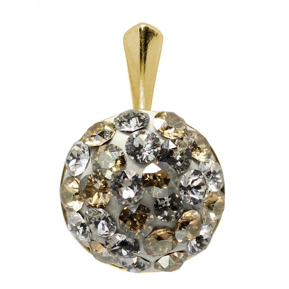 Adelaide - Pandantiv  Argint Placat cu Aur si Cristale Swarovski