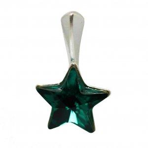 Lily - Pandantiv Steluta Argint si Cristale Swarovski - Emerald
