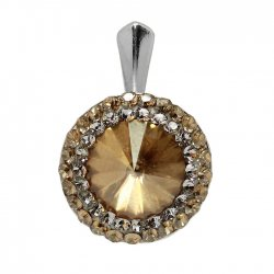 Aldora - Pandantiv Ceralun, Argint si Cristale Swarovski