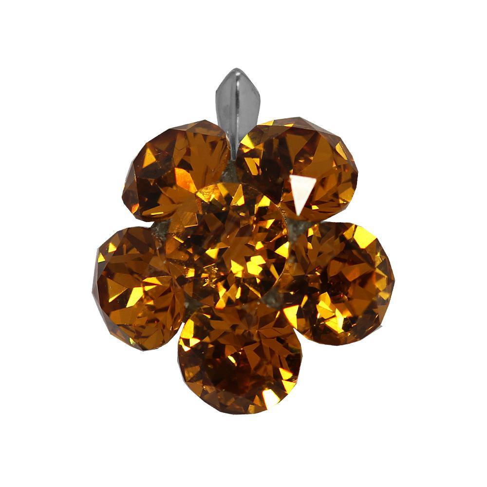 Clare - Pandantiv Argint si Cristale Swarovski - Light Topaz
