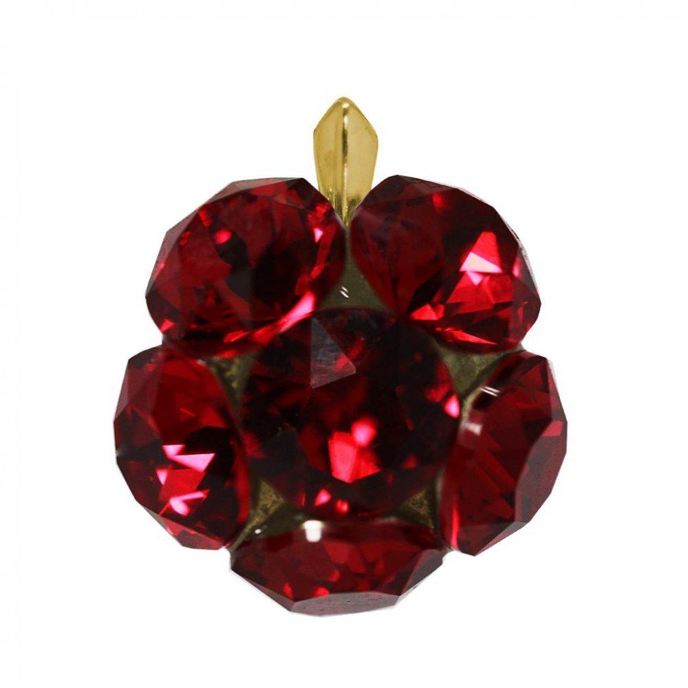 Beatrix - Pandantiv Argint Placat cu Aur si Cristale Swarovski - Scarlet