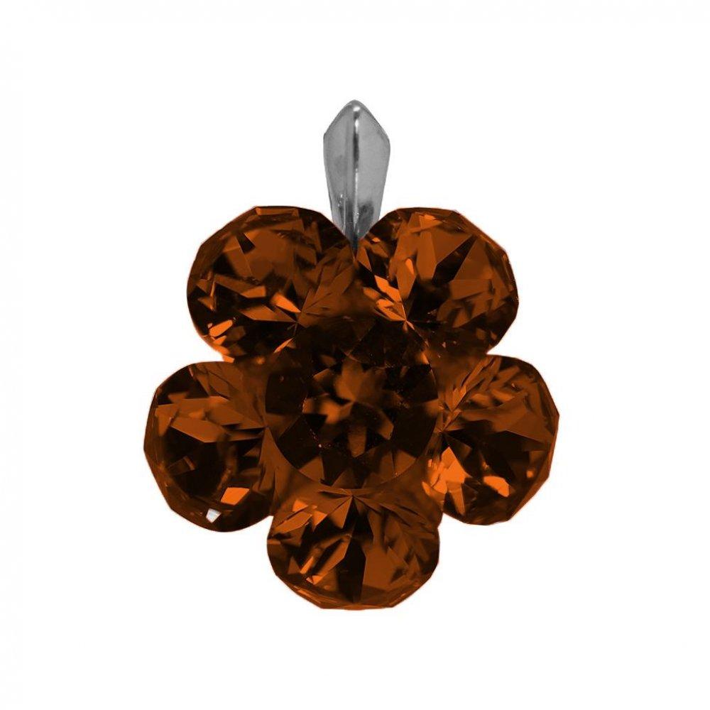 Adrianna - Pandantiv Argint si Cristale Swarovski-Smoked Topaz