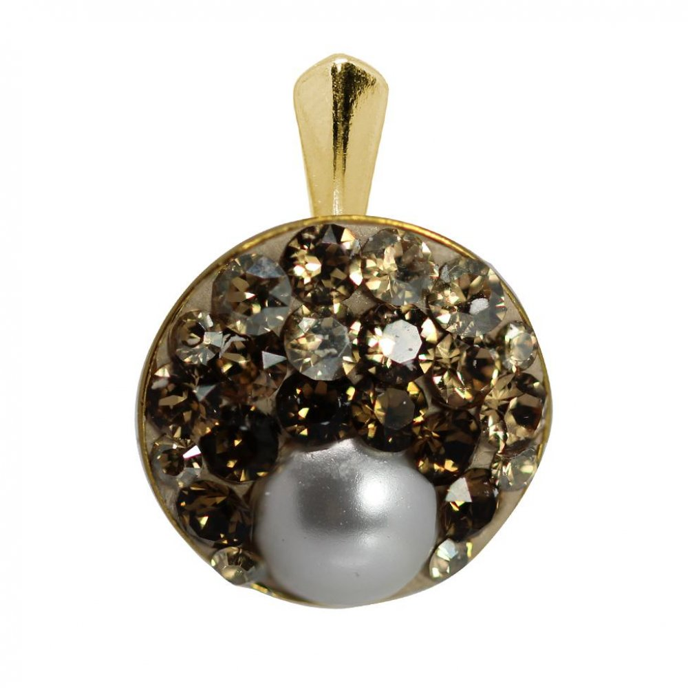 Rachel - Pandantiv Argint Placat cu Aur si Cristale Swarovski