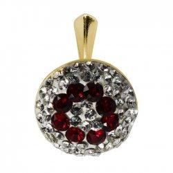 Augustina - Pandantiv Argint Placat cu Aur si Cristale Swarovski