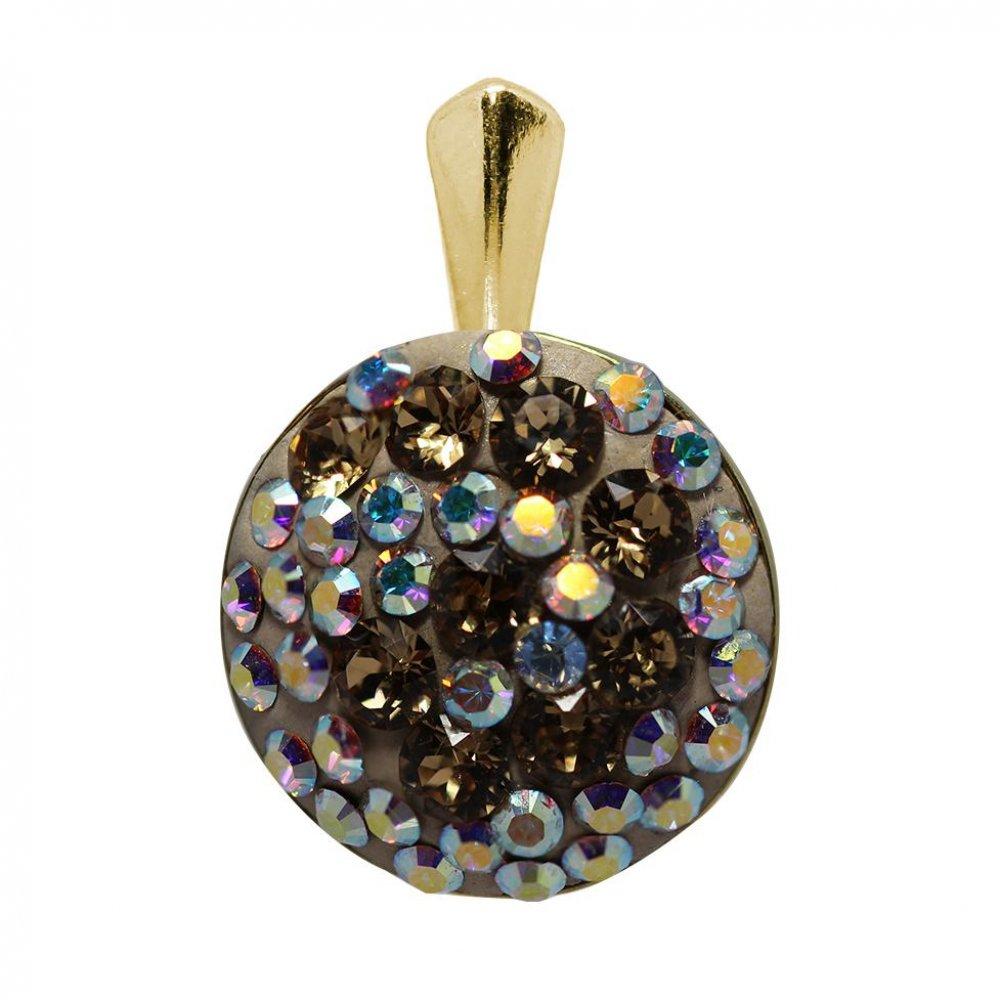 Marisa - Pandantiv Argint Placat cu Aur si Cristale Swarovski